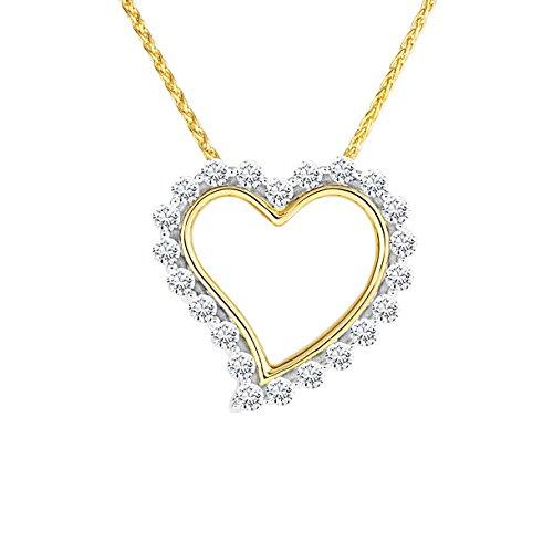 Diamond Line Damen - Halskette 585er Gold 22 Diamanten ca. 0,25 ct., gelbgold