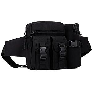 DCCN Hüfttasche Tactical Bachtasche Armee mit Flaschenhalter für Outdoor Sport Trekking Wandern Angeln