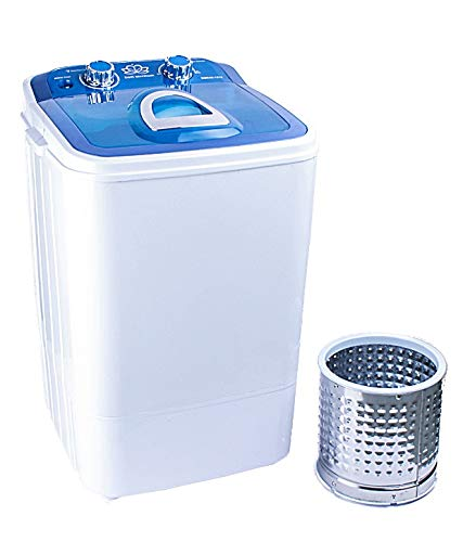 DMR 46-1218 Single Tub Portable Mini Washing Machine with Steel Dryer Basket (4.6 kg, Blue) - With 2 years Free Spare Supply Warranty