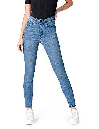 find. DC3375S jeans taille haute, Bleu (Light Wash), W32/L32 (Taille Fabricant: 42)