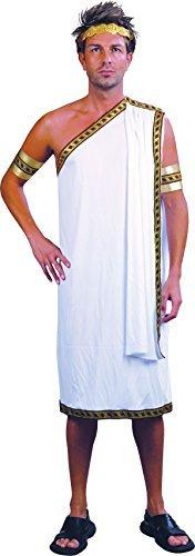 Herren Weihnachten Party Nobel Man Griechischer Gott Weiß Römische Toga Cäsar Kostüm Uk