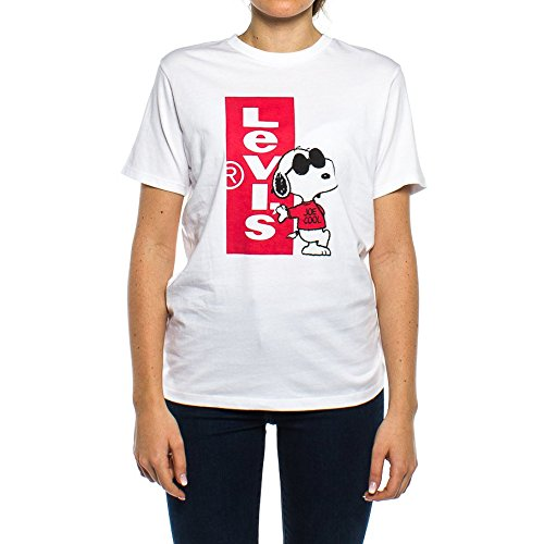 T-shirt levis – graphic setin neck 2 cny snoopy redtab bianco/rosso formato: xs (x-small)