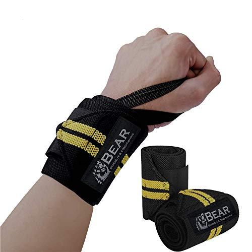 Bär Premium 30,5cm Heavy Duty Handgelenk Bandagen Olympischen Rosa Lifting und Crossfit Edition