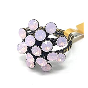 KONPLOTT Magic Fireball Damen-Ring, Ringgröße verstellbar, Glas rose -5450543133973