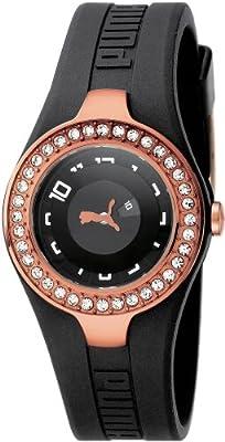 Puma Dynamic Posh - Reloj de cuarzo para mujeres, color negro de Puma