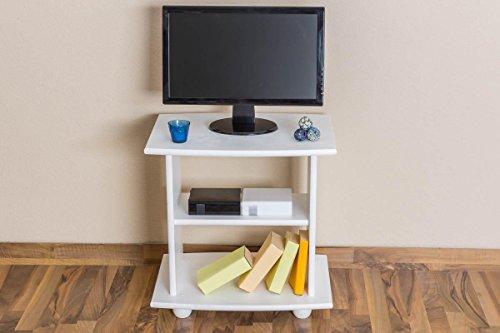 TV-Lowboard Massivholz Farbe: Weiß 60x60x45 cm (Basis Tv-schrank)
