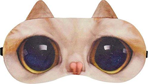 Lunettes de soleil Cute Cat Expression Masque de nuit