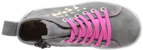 Ricosta ZEFA(M), Scarpe da ginnastica alte bambina grigio (Grau (patina 450))