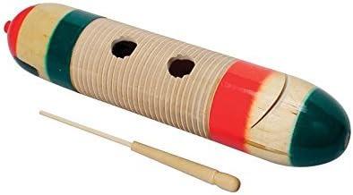 Quatro Percussion güiro madera con mazo-Standard