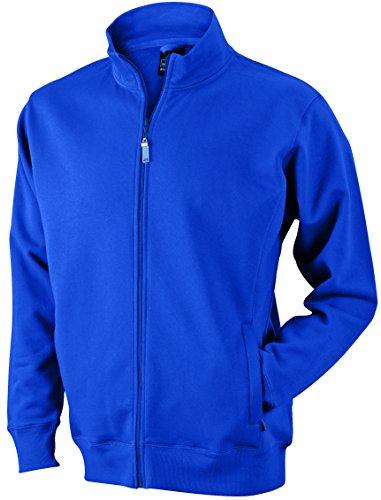 James & Nicholson Herren Jacket Sweatshirt Blau (Royal)