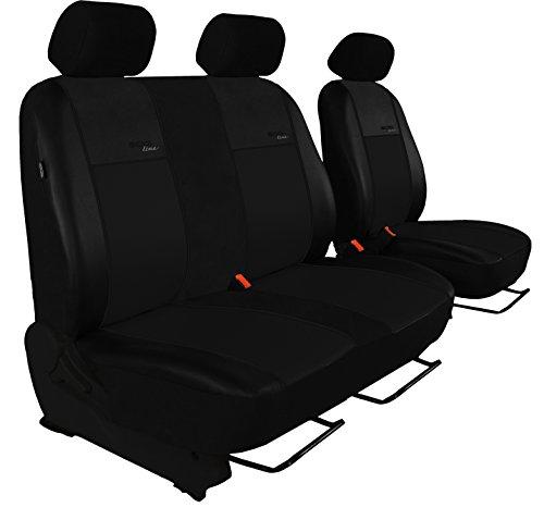 Autositzbezug Super Qualität Passend für Sprinter II W906 (Fahrersitz + 2er Beifahrersitzbank). Design Kunst-Line. Hier mit Schwarzer Lamelle
