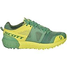 cott Zapatillas de running de tela, sintético para hombre Amarillo Yellow Black, verde/