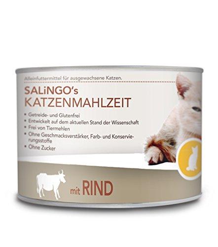 SALiNGO Katzenfutter nass, Pute PUR, getreidefrei (6x200g)