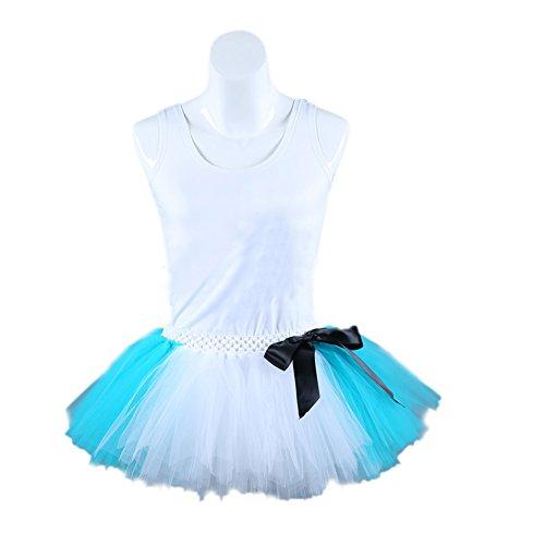 Honeystore Damen's Kurz Retro Petticoat Rock Ballett Blase 50er Tutu Unterrock Tütü Abschlussball Tanzkleid Party Minirock Tüllrock One Size Blau und (Kostüm H&m Ballett)