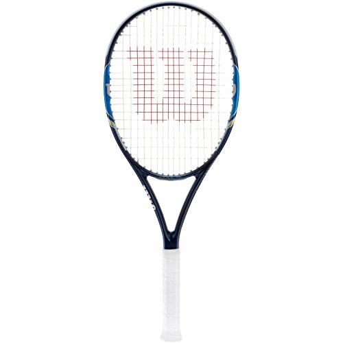 Wilson Tennisschläger Damen/Herren, All Courter, Anfänger und Fortgeschrittene, Ultra 100 UL, Blau/ Weiß