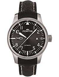 Limited Edition Fortis F-43 Flieger Automatic Day/Date Steel Mens Strap Watch 700.10.81 L.01