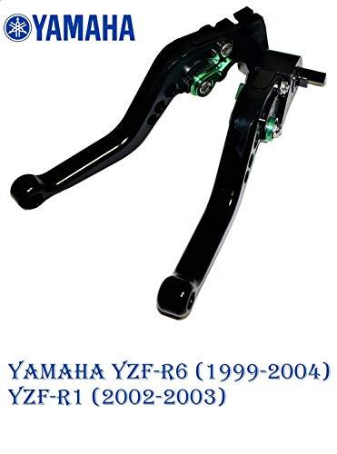Moto-777 Argent leviers avec Noir R/églage pour Yamaha YZF R1 2002-2003