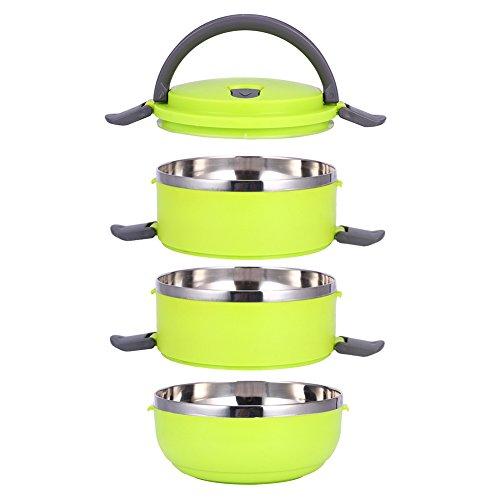 Empilable Isolation thermique Lunch Box à nourriture avec poignée en matériau de qualité alimentaire(vert)