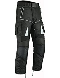 RIDEX para hombre CT1Motero moto motocicleta Pantalones de viento/impermeable Protecciones CE, negro, 34 W/30 L