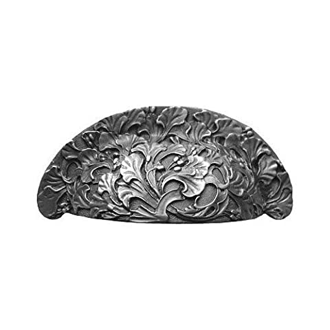 Notting Hill Florid Leaves Bin Pull - Antique Pewter by Notting Hill DH