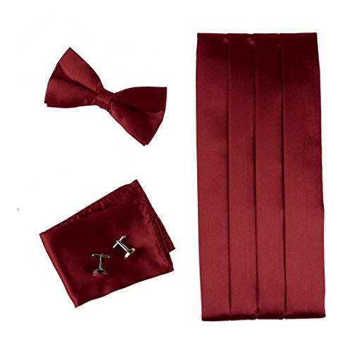 burgundy-formal-bow-tie-hanky-cufflinks-and-cummerbund-set-with-gift-box-cm1014