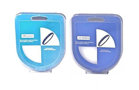 Phot-R 86mm Professional Slim filetées numérique circulaire polarisant CPL + Ultra Violet Filtre UV Accessoire