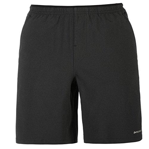 Brooks Herren Pure 9 Laufhose Shorts Sport Training Running Leicht Kurze Hose Heather Schwarz Medium