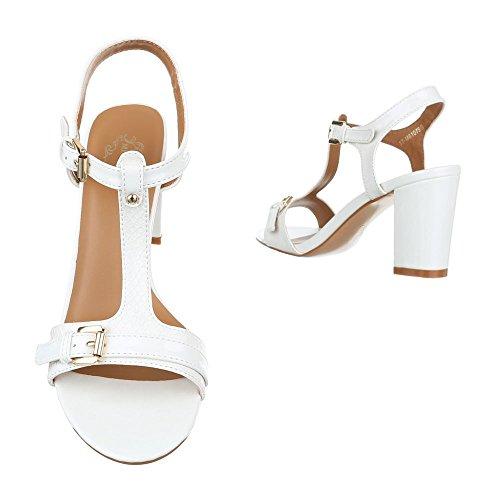 High Heel Sandaletten Damenschuhe Plateau Pump Moderne Schnalle Ital-Design Sandalen / Sandaletten Weiß