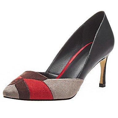 RTRY Donna Tacchi Pompa Base Ladies Abito Formale Vera Pelle Di Montone Primavera Estate Party Di Nozze &Amp; Sera Split Joint Stiletto Heel Scarpe Arancione/Nero Us5.5 / Eu36 / Uk3.5 / Cn35 US5.5 / EU36 / UK3.5 / CN35