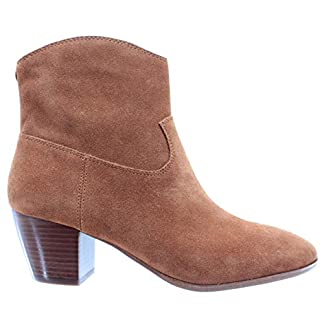 Michael Kors Women's Shoes Ankle Boots Avery Suede 40T8AVMB6S Acorn Camoscio New
