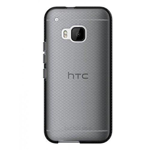 Tech21 Evo Check Schutzhülle Case Cover Widerstandsfähig Schlagfest mit FlexShock Technologie Aufprallschutz & Karomuster für HTC One M9 - Schwarz