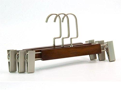 GFYWZ Di fascia alta in legno massello robusto anti skid Pantaloni Retro colore cremagliera Gonna essiccazione Ganci (pacchetto di 10) , long 30cm* high 16cm