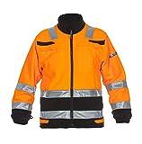 Hydrowear 04026027F Torgau Trendy High Visible Line Fleecejacke, 100% Polyester, XXL, Orange/Schwarz