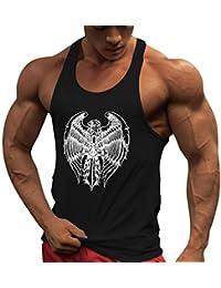 bdeacf951eb0 MEIHAOWEI Uomo Bodybuilding Canotta Palestra Workout Fitness Canotta in  Cotone Senza Maniche Canotta Intima Canotta Canotta