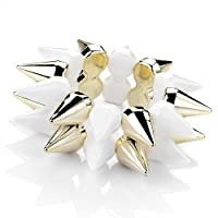 White And Gold Colour Spike Elastic Bracelet Size 3 CM ELASTIC