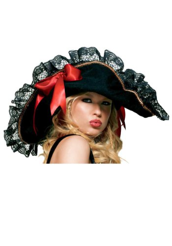 Neue Frau Buccaneer Pirat Hat Fancy Kleid Kostüm Halloween Kostüme Party One (Pirate Halloween Hat Kostüme)