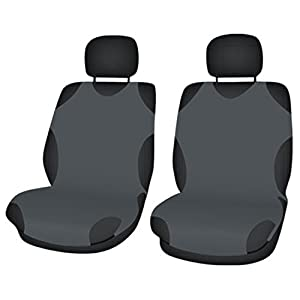 ZentimeX Z706053 Sitzbezüge Vordersitze T-Shirt-Design Baumwolle dunkel grau