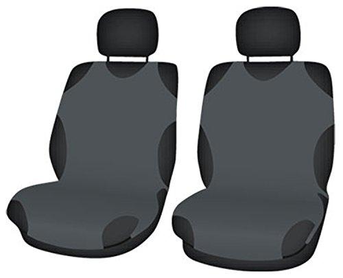 ZentimeX Z708317 Sitzbezüge Vordersitze T-Shirt-Design Baumwolle dunkel grau