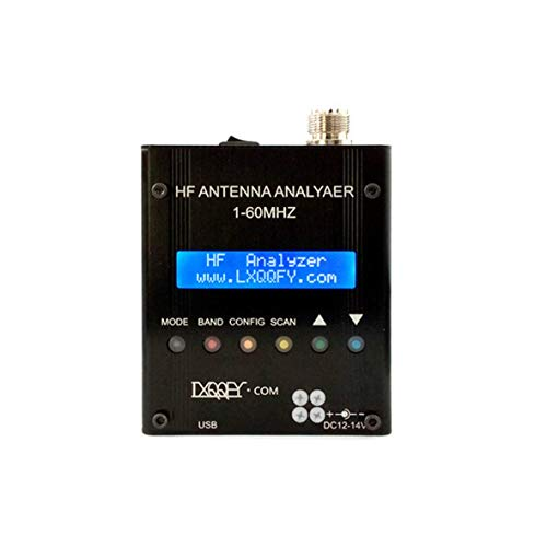 Heaviesk Lusya HF 1-60MHZ MR300 QRP SARK100 Bluetooth-Kurzwellen-Antennenanalysator mit Akku 12V-18V -