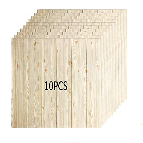 K&F-qianzhi Panel De Pared 3D Imitación De Madera Grano Revestimiento Ladrillo Panel...