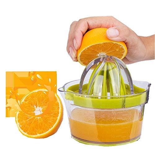 Zitruspresse mit Vorratsbehälter, multifunktionaler Zitronen-Orangenpresse mit manueller Fruchtpresse, Eigelbabscheider, Hobel, Entsafter Orangen-Zitruspresse