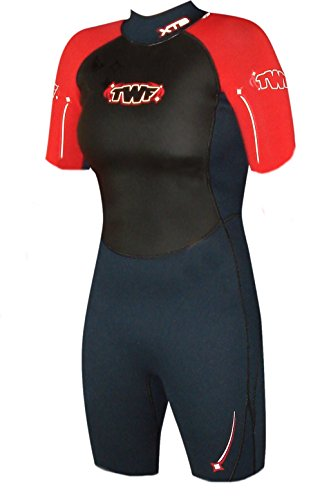 twf-womens-xt3-shortie-wetsuit-charcoal-red-size-160