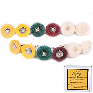 ZFE 12pcs Polishing Wheel Buffing Pad Brushes Set for Dremel Accessories Rotary Tool