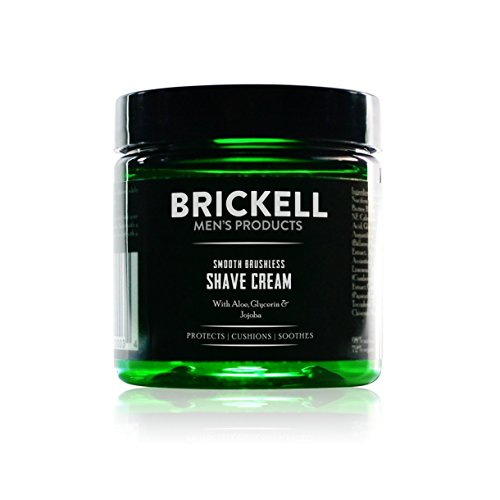 Brickell Men's Products Glatte Brushless Shave Creme - Natur- und Bio (Geruchlos, 2 Ounce)