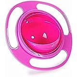 Befaith Gamelle anti-renversement pour enfant Gyro Bol rotatif à 360° enfants Évitez les aliments renverser Rouge
