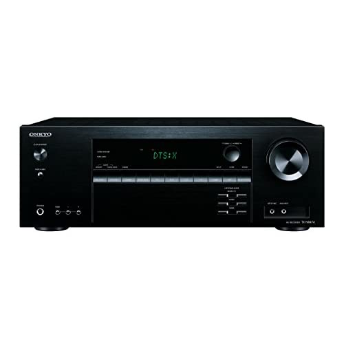 Onkyo TX-NR474(B) 5.1 Channel AV Receiver (135 Watt/Channel, Multiroom, home cinema, Dolby/DTS:X, Wifi, Bluetooth, Streaming, Music Apps, Spotify, Tidal, Deezer, Radio, USB/HDMI/Audio in) Black