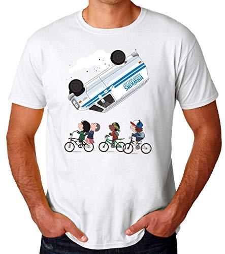 Stranger Peanuts Mashup Camiseta para Hombres X-Large