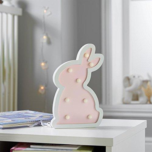 batteriebetriebenes Häschen Nachtlicht - Pink Bunny - in zartem Rosa