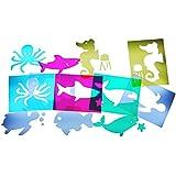 HenBea - Plantillas animales de mar traslúcidas (914)