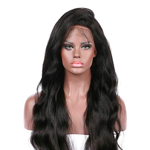 (Luckhome Damen Karneval Langhaar Perücke Ca. Lang Karneval/Fasching Natürliche Lace Gradient Langes Lockiges Haar Synthetische Mode Kostüm Vordere Spitzeperücke(D))